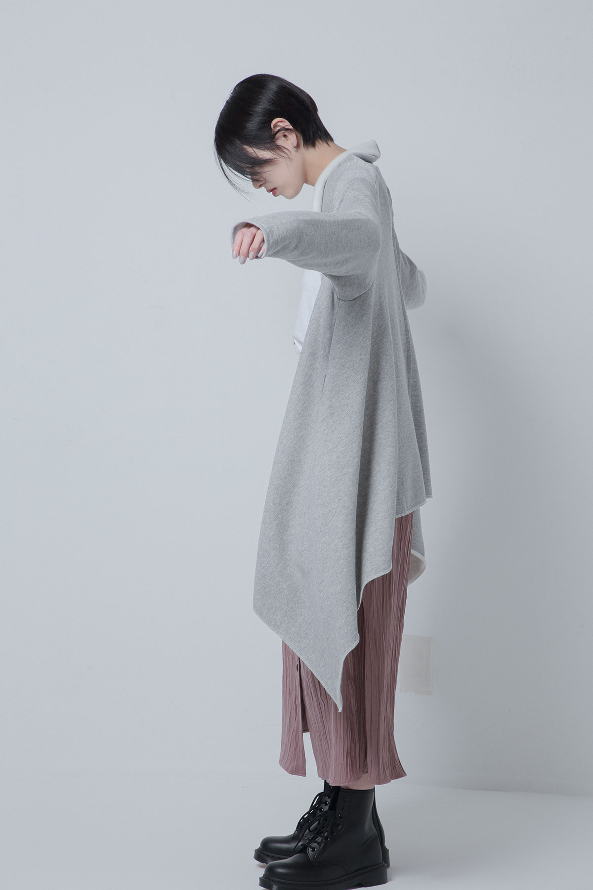 BO205711-gray Furry Liner Sweat Square Gown -GRAY-【BO205711】Del.Oct.