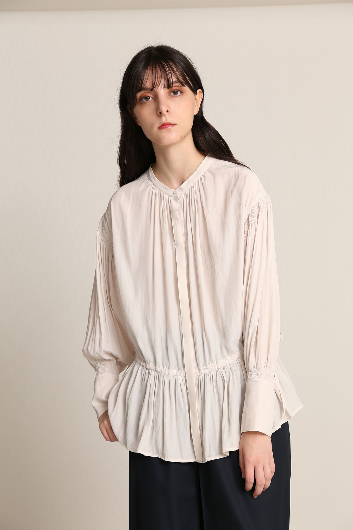 BO21-109B-ivory Ordinary de Chine Toga Blouse-IVORY-【BO21-109B】Del.Jan.