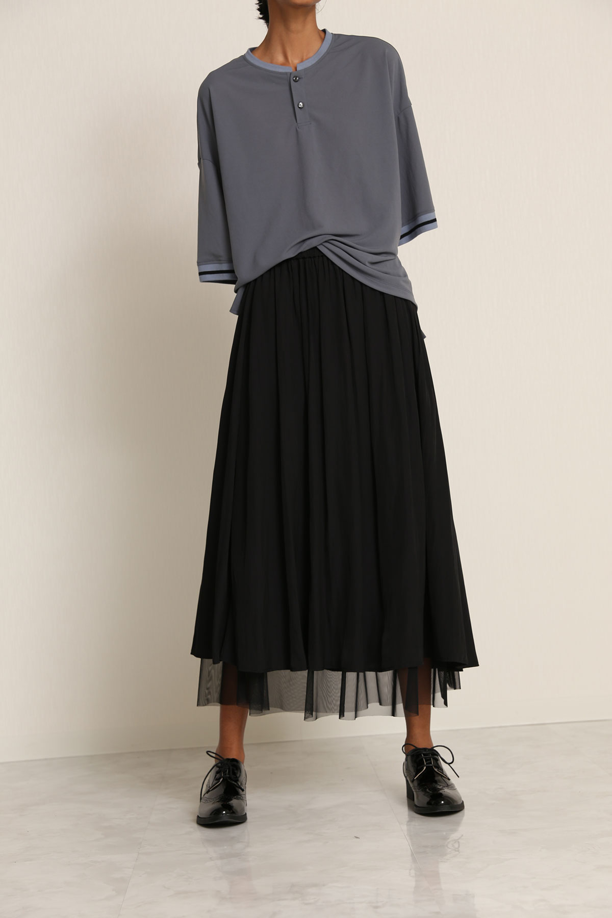 BO21-111K-black Ordinary de Chine Dairy/Dinner Skirt -BLACK-【BO21-111K】Del.Jan.