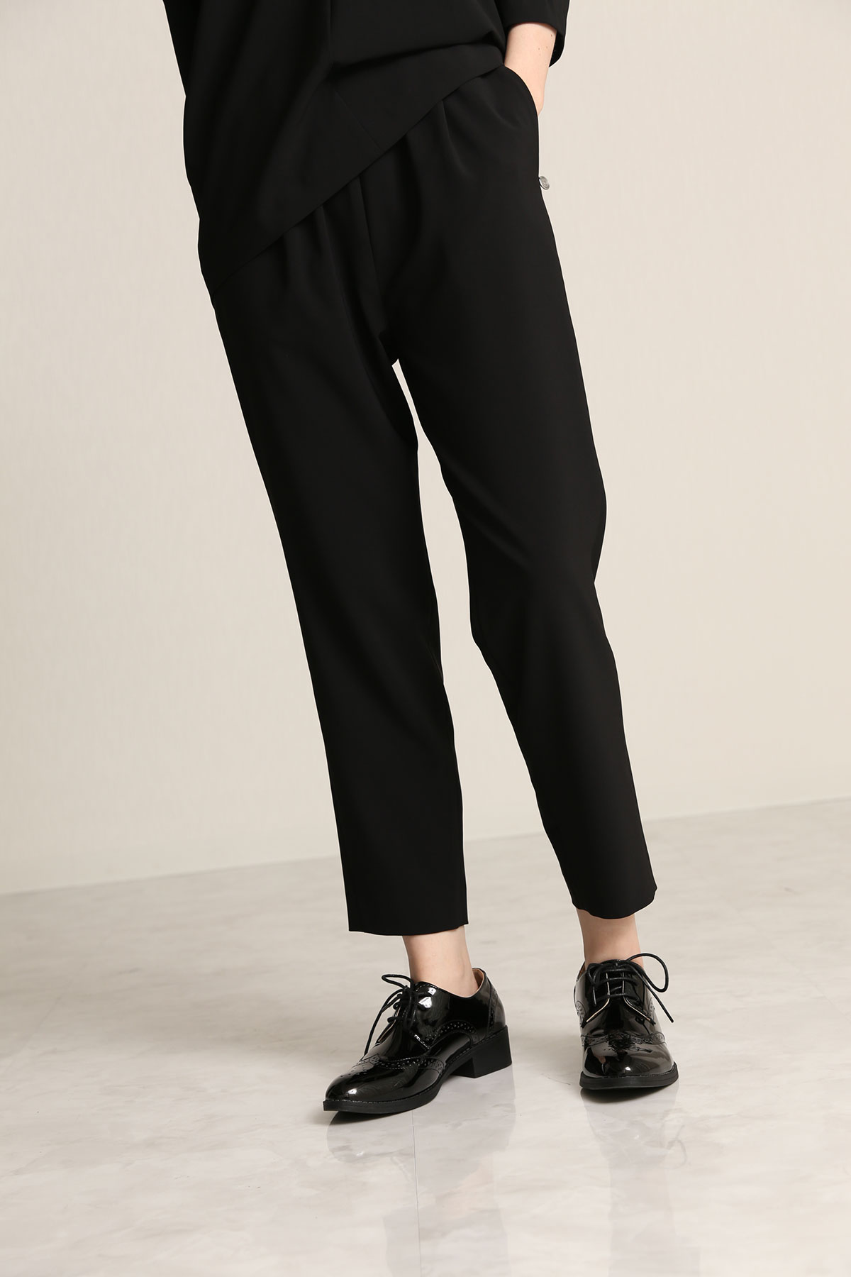 BO21-119P-black 4D Stretch Twill Amphora Pants-BLACK-【BO21-119P】