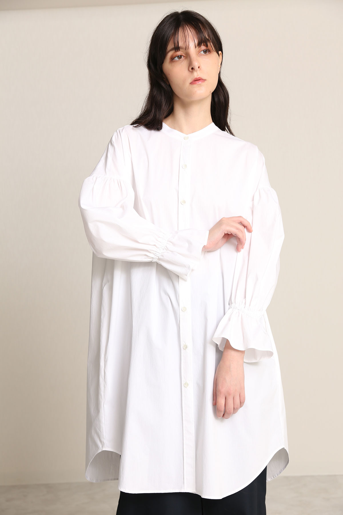 BO21-123D-owhite Daily/Dinner Transform Tunic Dress-O WHITE-【BO21-123D】
