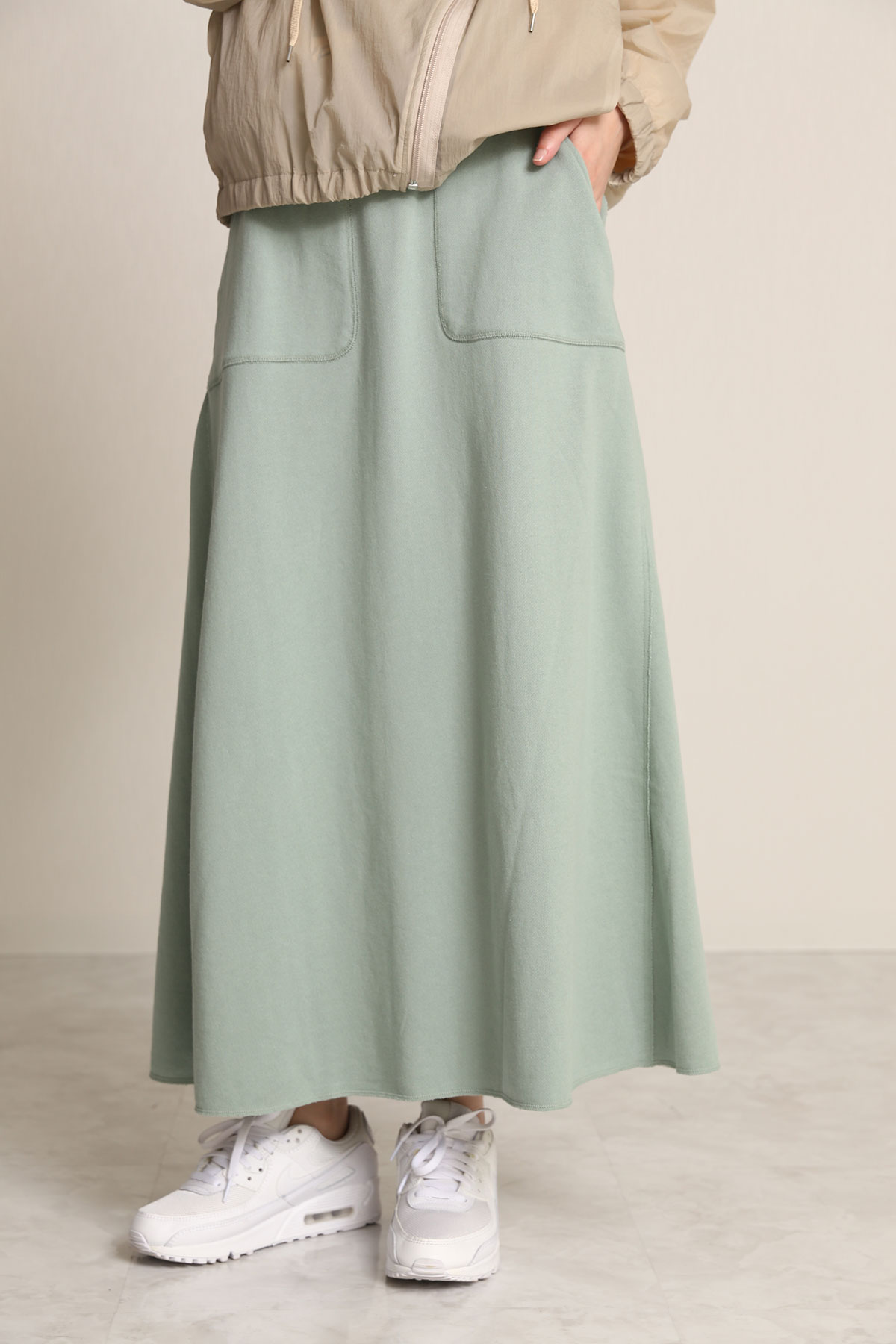 BO21-131T-mint 1mile Western Cut Skirt-MINT-【BO21-131T】Del.Jan.